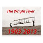 Aniversario del aviador de Wright (1903-2013) Tarjeta Postal