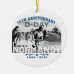 Aniversario del día D de Normandía 70.a Ornamentos De Navidad