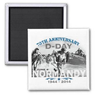 Aniversario del día D de Normandía 70.a Imán Cuadrado