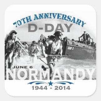 Aniversario del día D de Normandía 70.a Pegatina Cuadrada