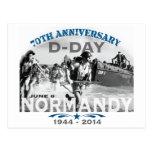 Aniversario del día D de Normandía 70.a Tarjeta Postal