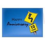 Aniversario del empleado, 10 años de señal de tráf felicitaciones