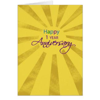 Aniversario del empleado 1 año, Sun Tarjetón
