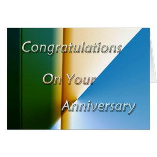 Aniversario del empleado tarjeta de felicitación