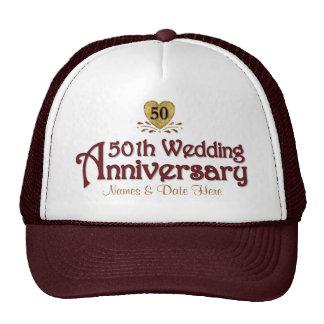 Aniversario del oro 50.o gorras de camionero