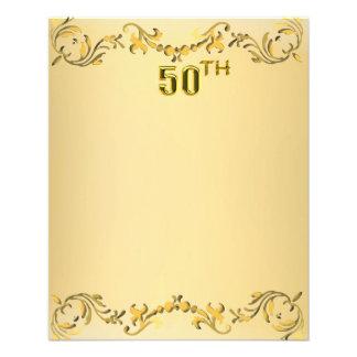 Aniversario del oro 50.o o aviador antiguo del cum tarjeta publicitaria