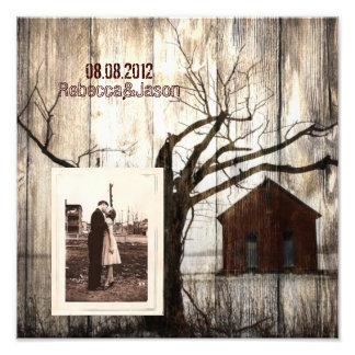 aniversario del país occidental del barnwood de la arte con fotos