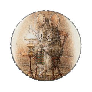 Aniversario del ratón de la abuela o fiesta de frascos de caramelos