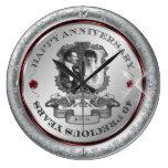 Aniversario del vintage 40.o relojes de pared