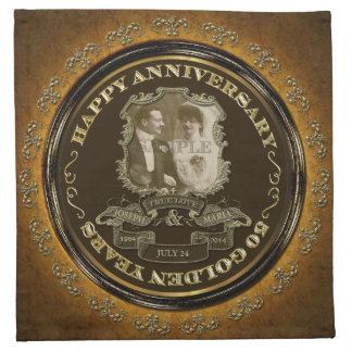 Aniversario del vintage 50.o servilleta