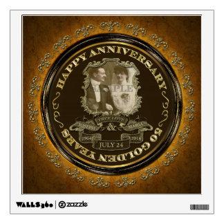 Aniversario del vintage 50.o vinilo decorativo