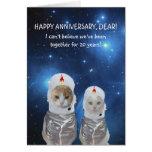 Aniversario divertido adaptable del espacio de los tarjeta de felicitación