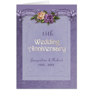Aniversario doblado de la púrpura de los rosas de