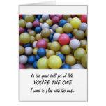Aniversario-En la tarjeta del hoyo de la bola de l