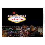 ANIVERSARIO en la tarjeta fabulosa de Las Vegas