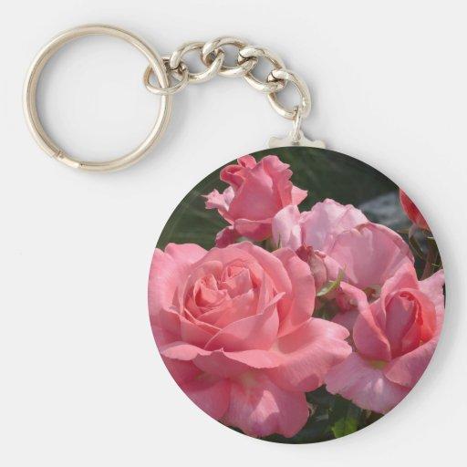 """""""Aniversario especial color de rosa rosado """" Llavero Redondo Tipo Pin"""