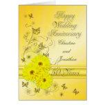 Aniversario fabuloso de las flores 50.as para un tarjetón