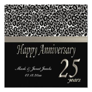"""Aniversario feliz 25 años invitación 5.25"""" x 5.25"""""""