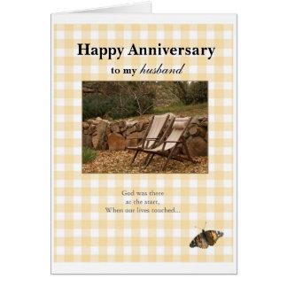 Aniversario feliz, a mi, husban tarjeta