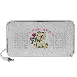 Aniversario feliz laptop altavoz