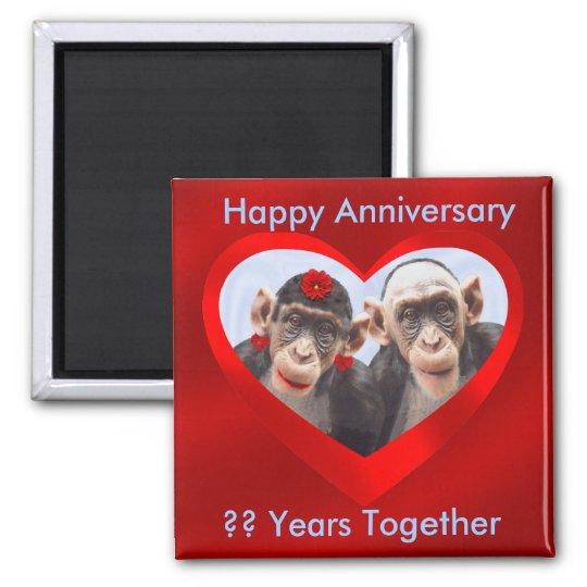 ¿Aniversario feliz?? Años de Junto-imán Imán Cuadrado