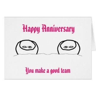 Aniversario feliz - buen equipo felicitacion