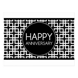 Aniversario feliz (cinderStripe) Postal