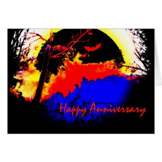 Aniversario feliz de la luna negra por Valpyra Tarjeta De Felicitación