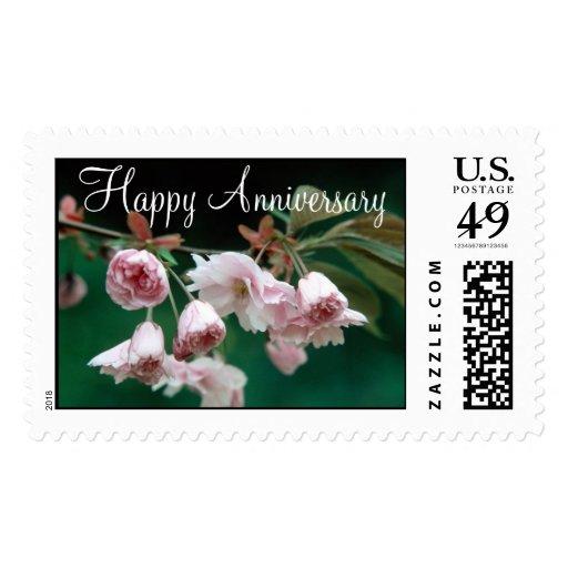 Aniversario feliz de las flores 295 sello