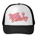 Aniversario feliz del feliz cumpleaños gorros bordados