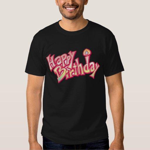 Aniversario feliz del feliz cumpleaños playera