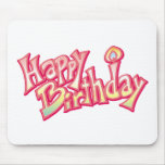 Aniversario feliz del feliz cumpleaños alfombrillas de ratones