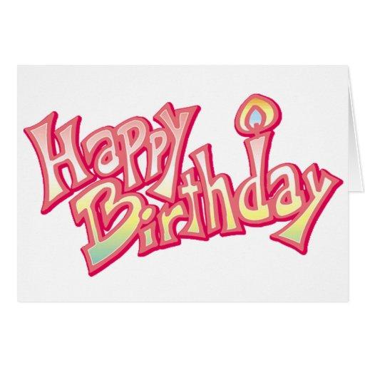 Aniversario feliz del feliz cumpleaños felicitación