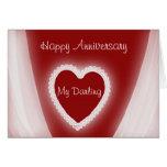 Aniversario feliz mi corazón rojo romántico felicitacion
