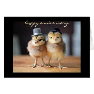 Aniversario feliz muy a un par (tarjeta de felicit tarjeta pequeña