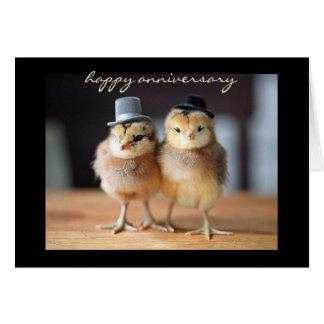 Aniversario feliz muy a un par (tarjeta de tarjeta pequeña