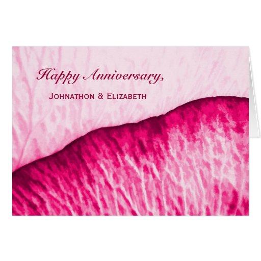 Aniversario feliz para juntar el extracto color de tarjetas