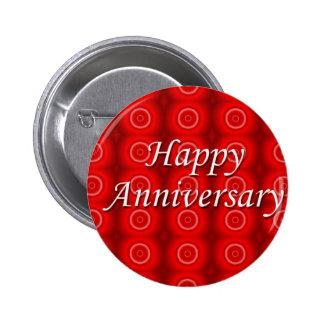 Aniversario feliz pin redondo 5 cm