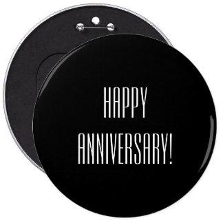 Aniversario feliz pin redondo 15 cm