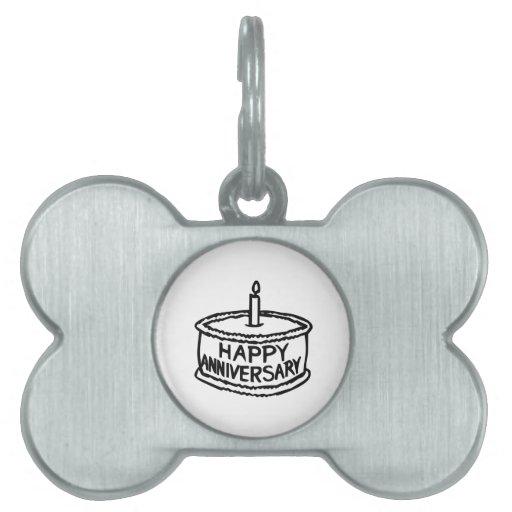 Aniversario feliz placas mascota