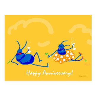 ¡aniversario feliz! postales
