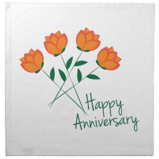 Aniversario feliz servilleta de papel