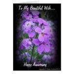 Aniversario feliz tarjeta