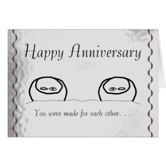 Aniversario feliz felicitacion