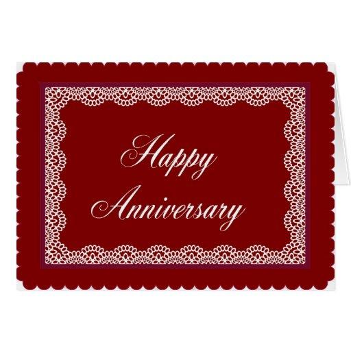 Aniversario feliz tarjeta de felicitación