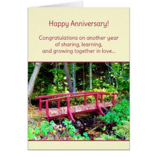 ¡Aniversario feliz! Tarjeta De Felicitación