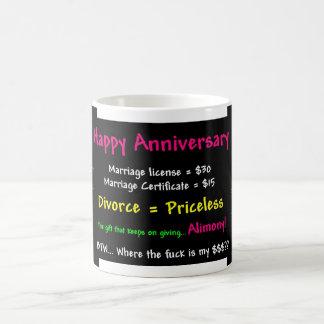 Aniversario feliz taza