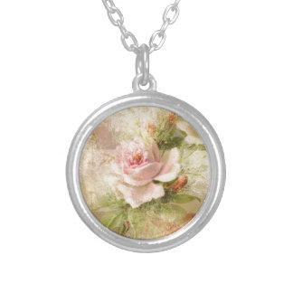 Aniversario floral color de rosa colgante redondo