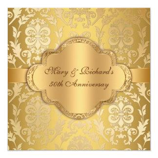 Aniversario floral del oro 50.o del remolino del comunicado