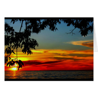Aniversario hermoso de la salida del sol a la tarjeta de felicitación
